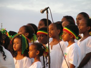 ethio kids on stage